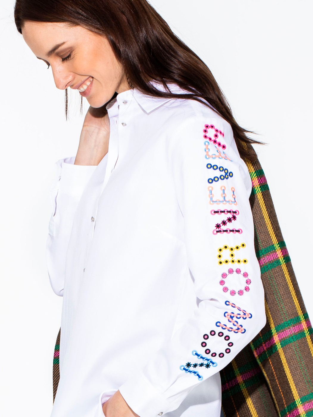 DOVER EMBROIDERED SHIRT WHITE HR