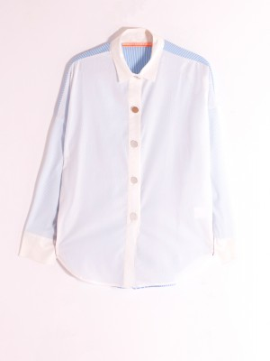 ELSA SHIRT LIGHT BLUE STRIPES