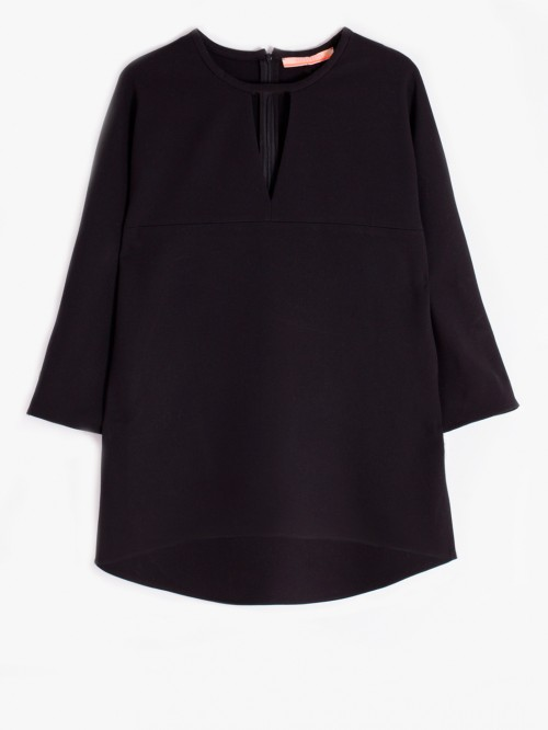 LUCIA SHIRT CREP BLACK