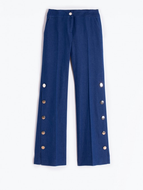 NATALIA TROUSERS IN BLUE DENIM