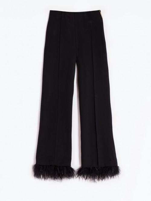 PANTALON GIULLIA FUR BLACK