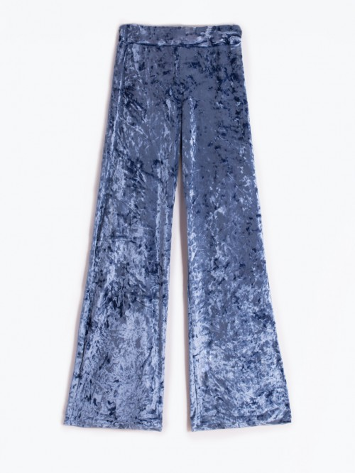 VENUS BLUE VELVET TROUSERS