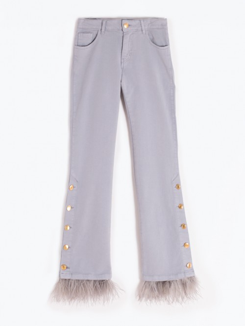 FABIOLA TROUSERS GREY FEATHER