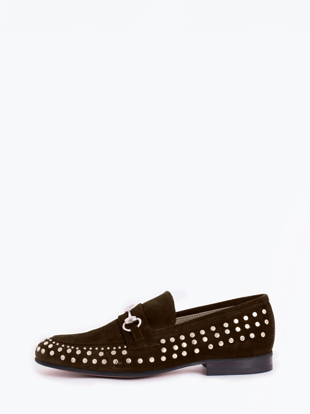 ZAPATO BROWN LOAFER STUDS