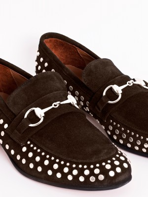 BROWN LOAFER STUDS