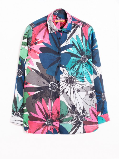 CAMISA DOVER FULL BLOOMS PRINT