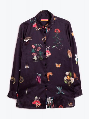 IRINA SHIRT NIGHT GARDEN TWILL