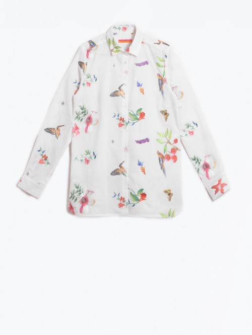 CAMISA DOVER EMBROIDERY BIRD