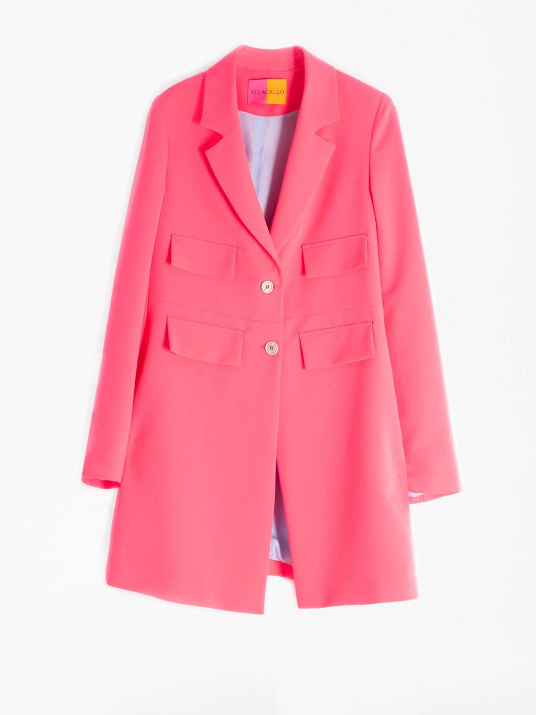 LUCIA COAT PINK FLUOR CREP CREP