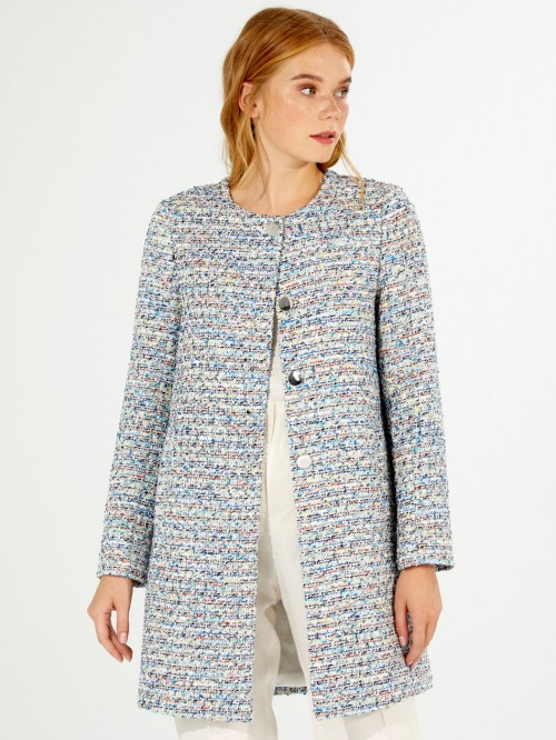 SONIA COAT BLUE MULTI MADELAINE