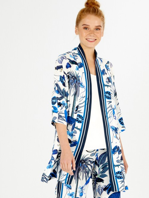 TONY COAT DEEP BLUE JUNGLE