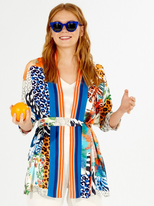 CHAQUETA MARIANA SUMMER COLLAGE PRINT
