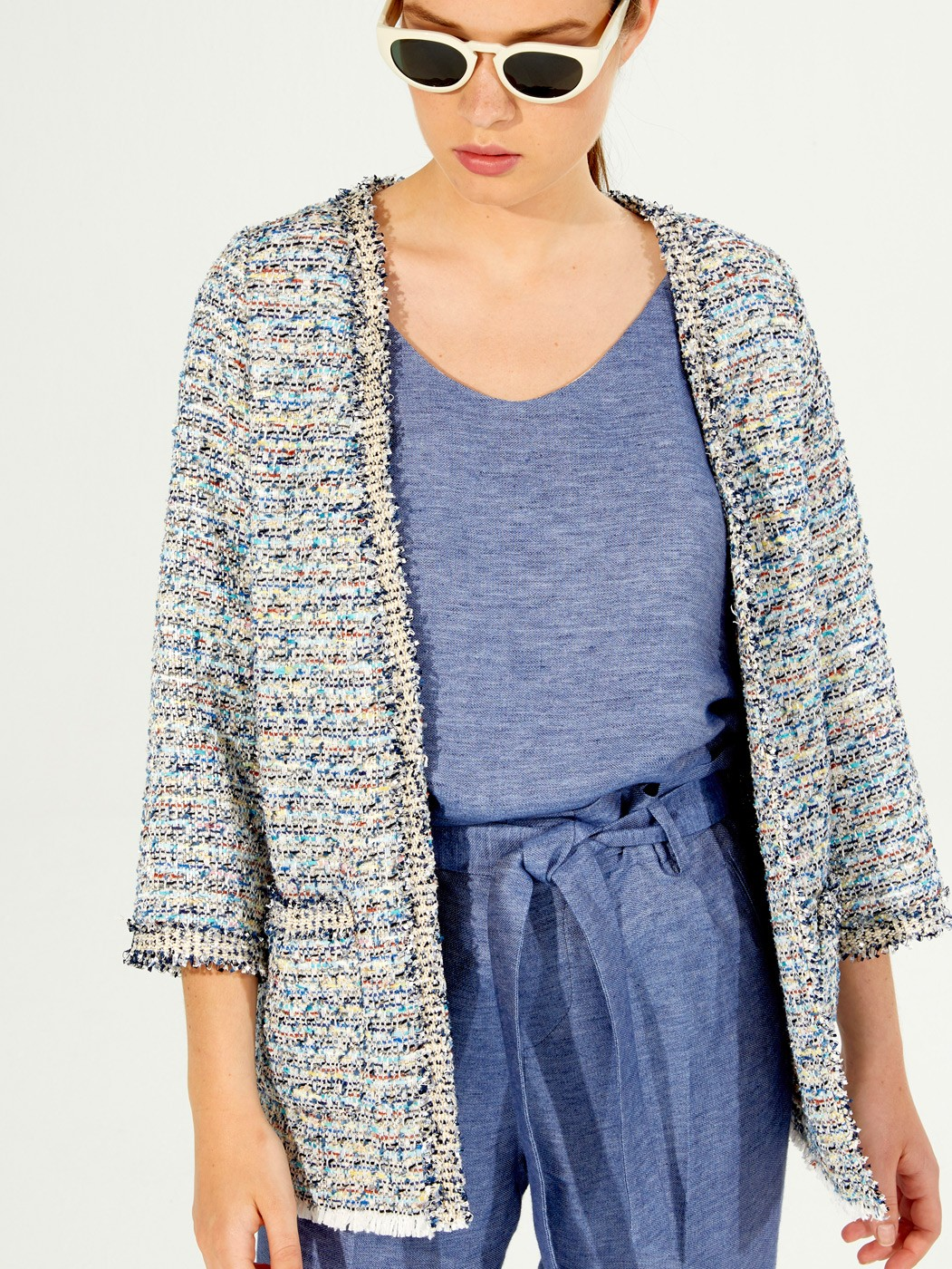 FANCY JACKET BLUE MULTI MADELAINE