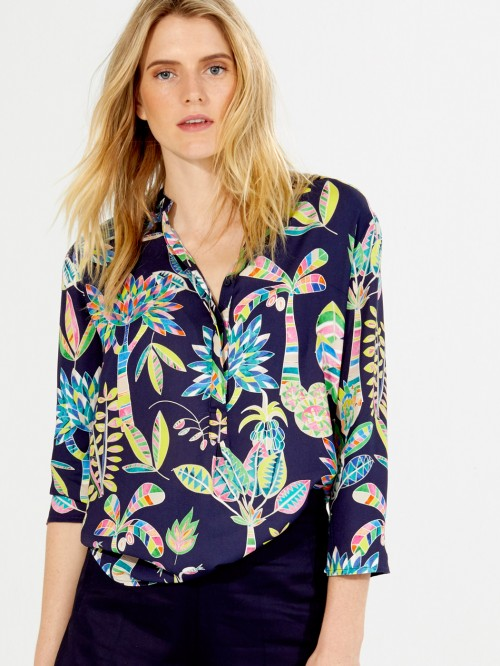 MARTHA SHIRT HALLERBOS NAVY