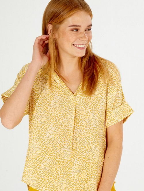 CAMISA MÓNICA AMBER LEOPARD