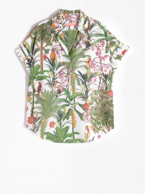 MONICA SHIRT ATTALEA WHITE PRINT