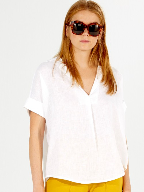 MONICA SHIRT WHITE LINEN