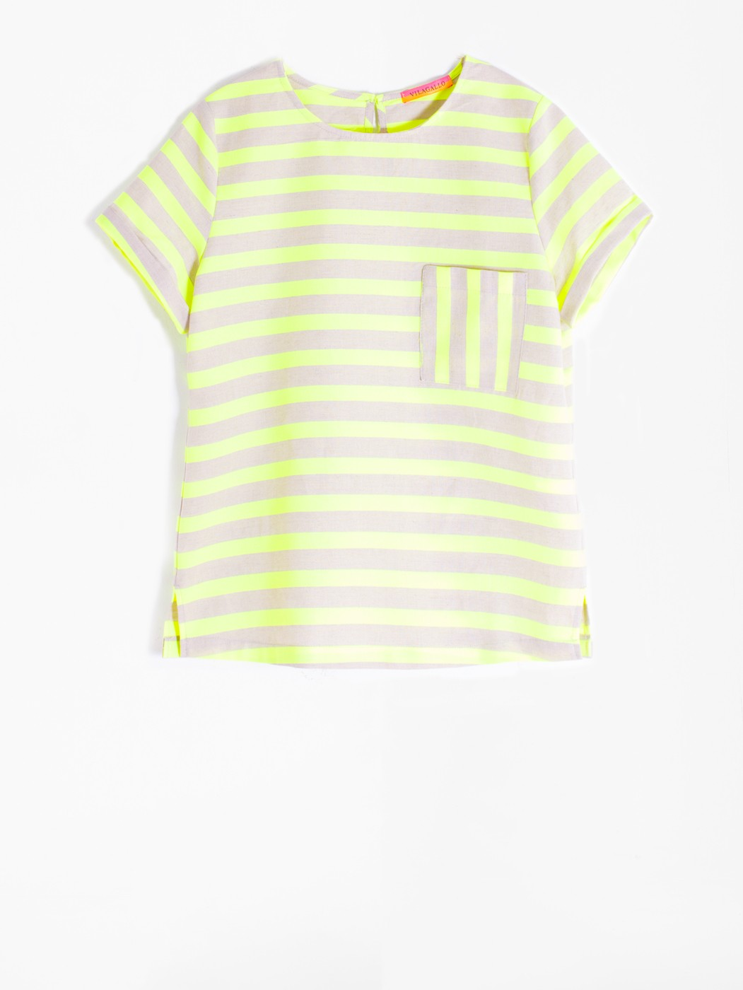 CAMISA CANDY LIME FLUOR STRIPE
