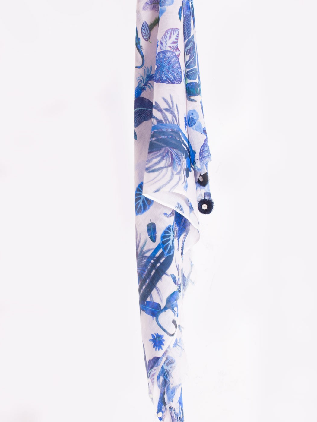 BLUE JUNGLE SCARF