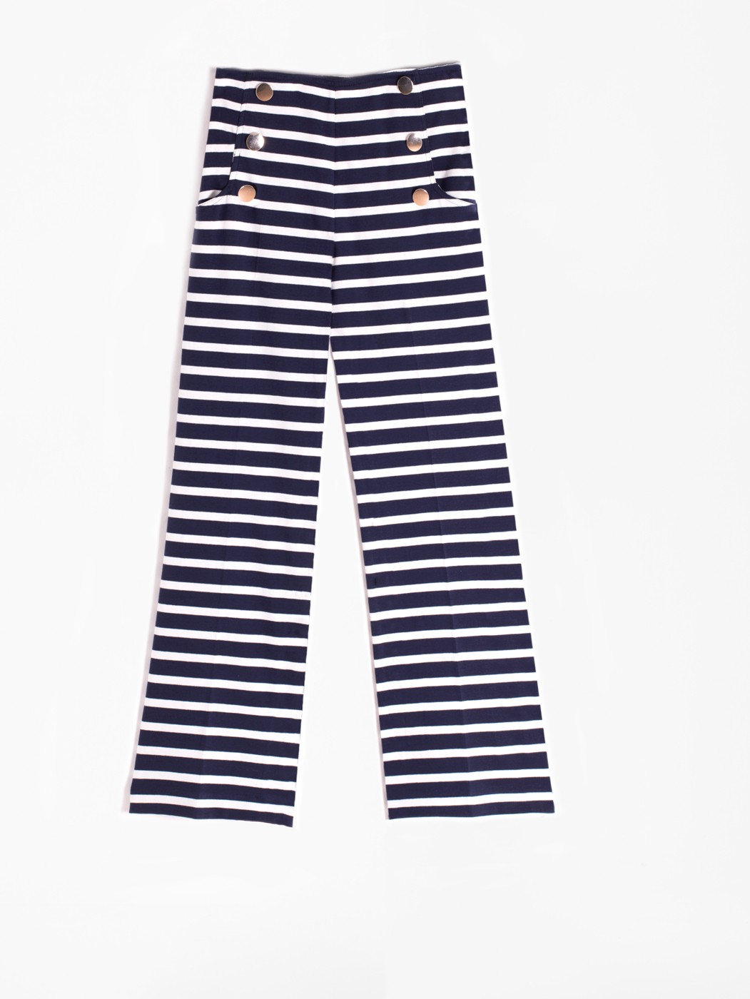 LIDIA TROUSERS KN NAVY STRIPES
