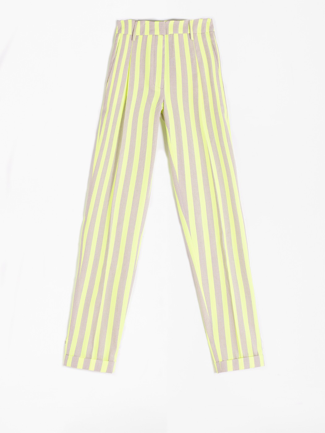 PANTALÓN OLIVIA LIME FLUOR STRIPES