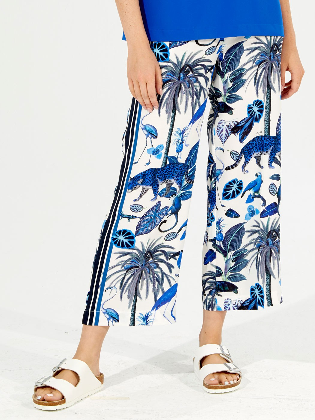 SANDRA TROUSERS DEEP BLUE JUNGLE