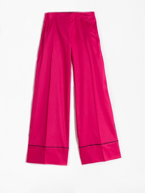 SANDRA TROUSERS CHERRY COTTON