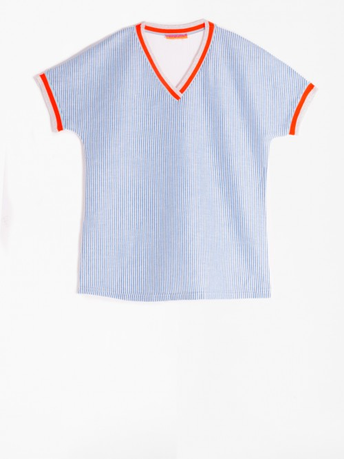 KARLA T-SHIRT BLUE STRIPES