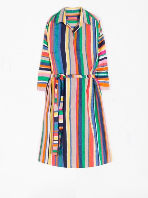 ADRIANA DRESS FIJI STRIPE