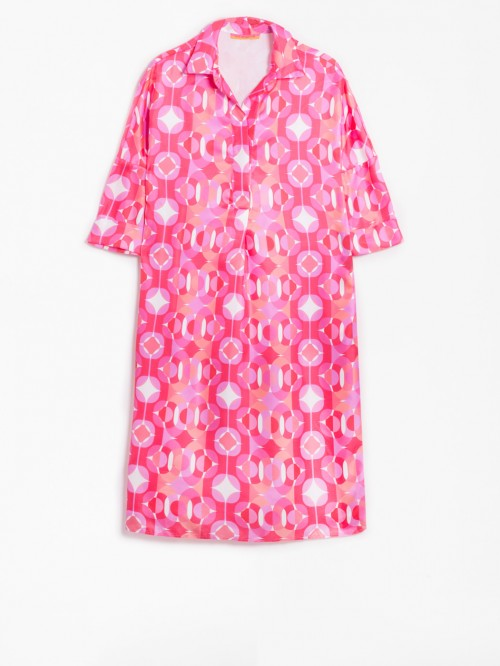 APRIL DRESS PINK CONDOTTI SILK