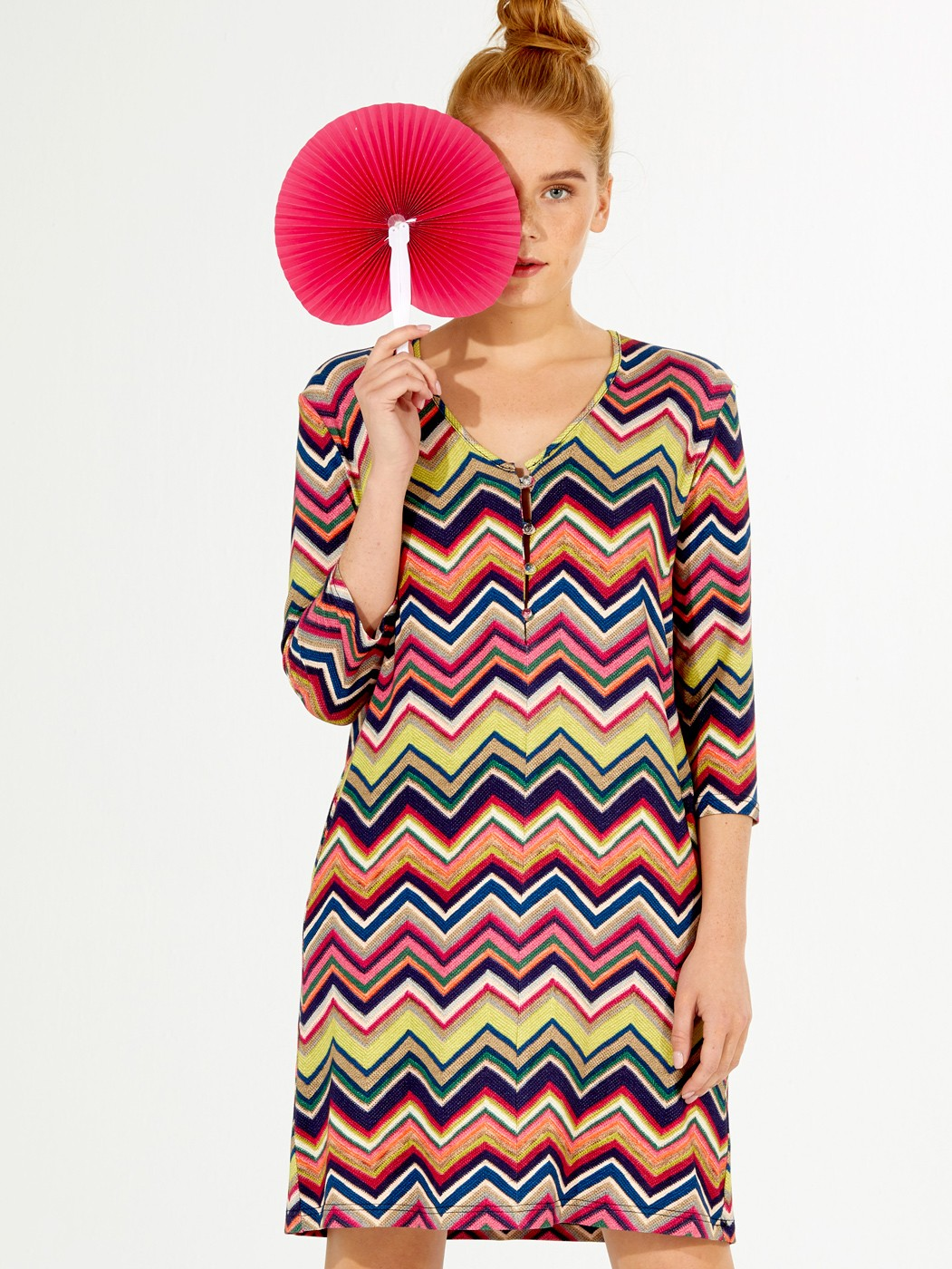 SHARY DRESS NAVIGLI PRINT KN