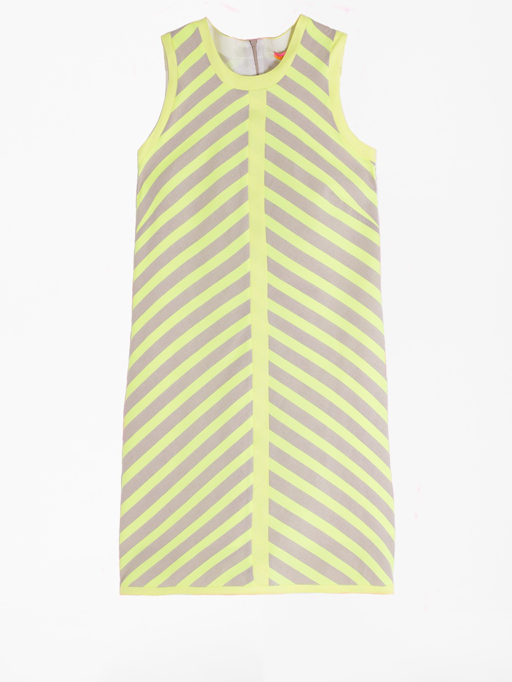 ANDRES DRESS LIME FLUOR STRIPES