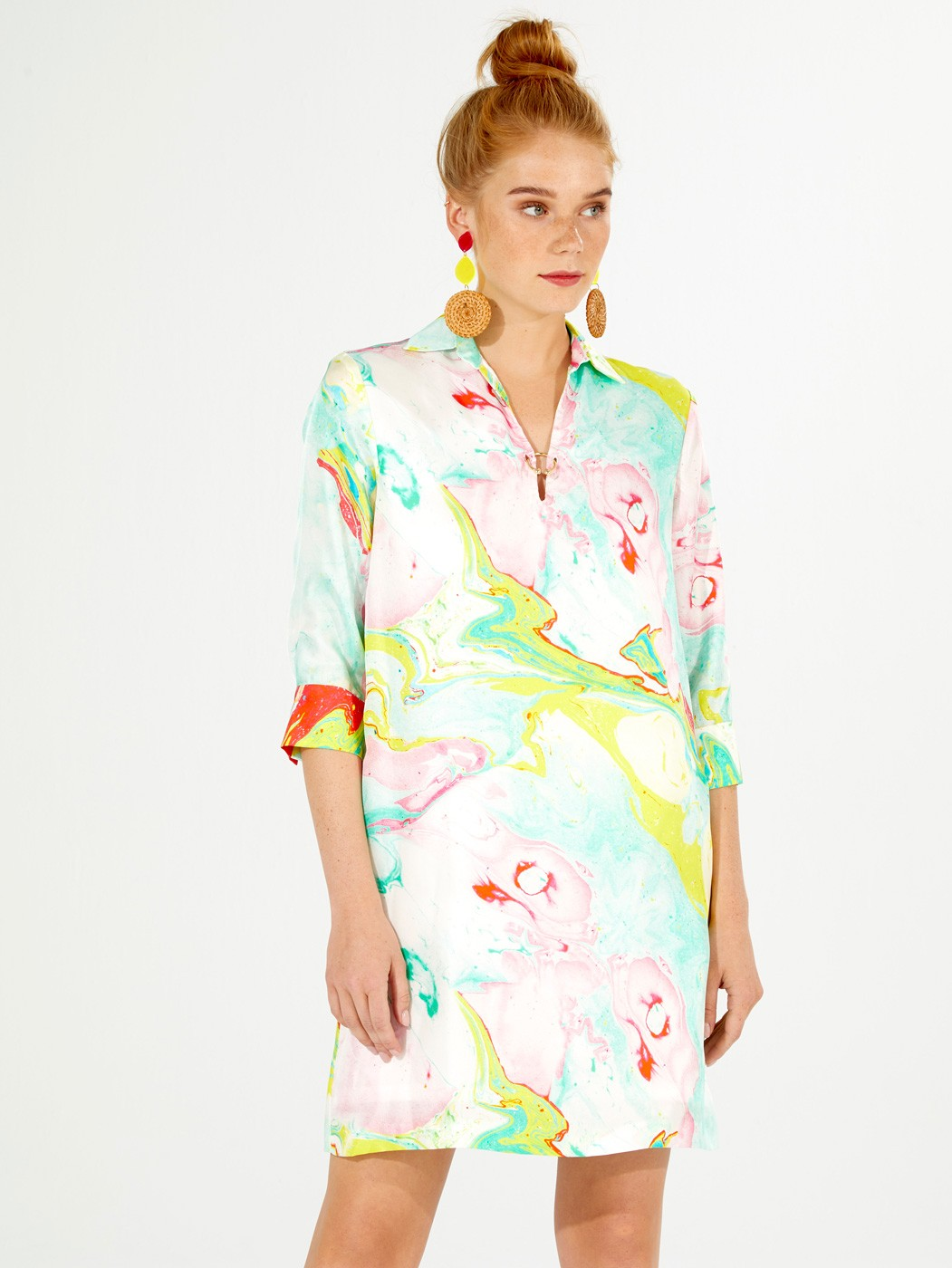 PENELOPE DRESS CANDY MARBLE