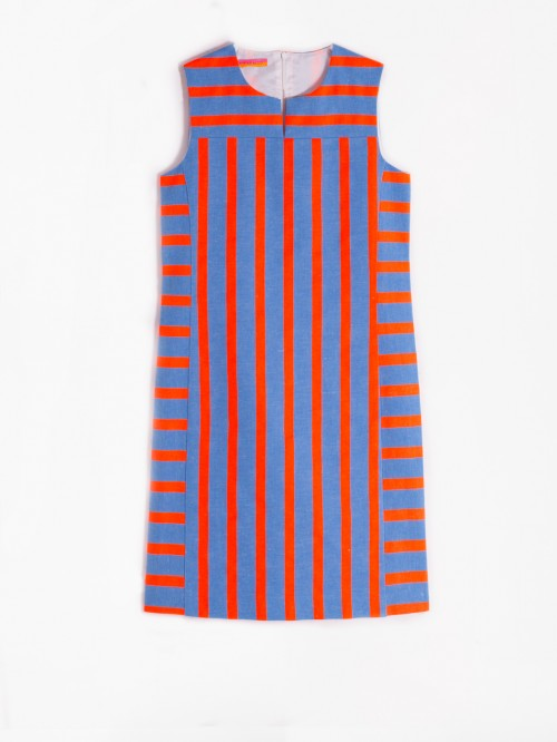 MONICA DRESS NAMIB FLUOR STRIPES