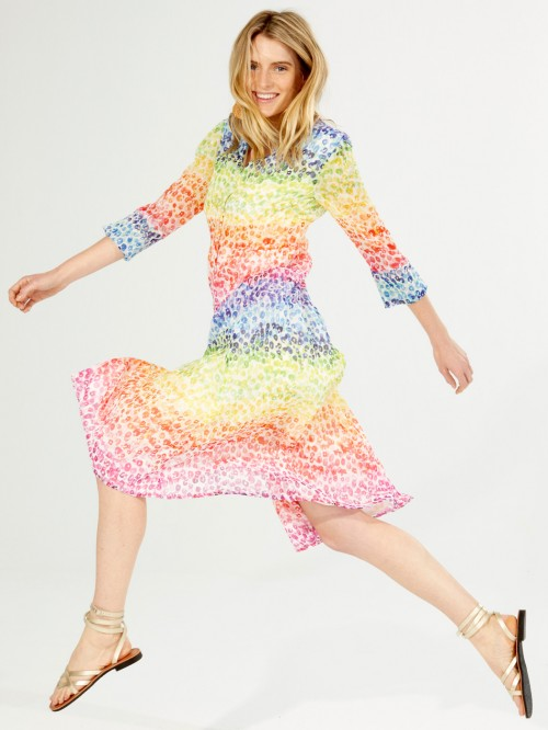 SATINA DRESS WILD ACQUARELLA PRINT