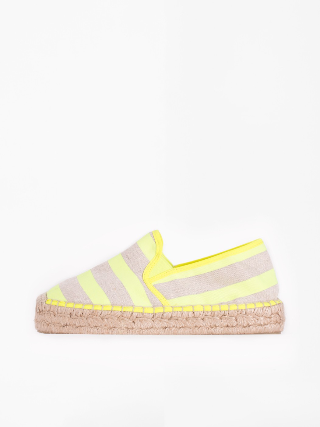 SUSAN SHOES LIME FLUOR STRIPES