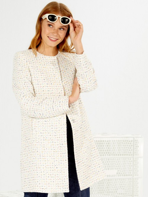 SOFIA COAT MADDIE WHITE MULTI
