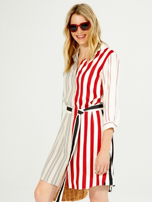 DOVER DRESS RED STRIPES