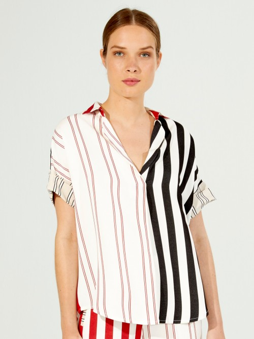 CAMISA MÓNICA RED L STRIPES