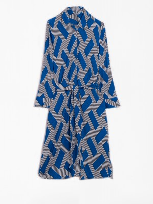 ADRIANA DRESS TRUE BLUE PRINT KN