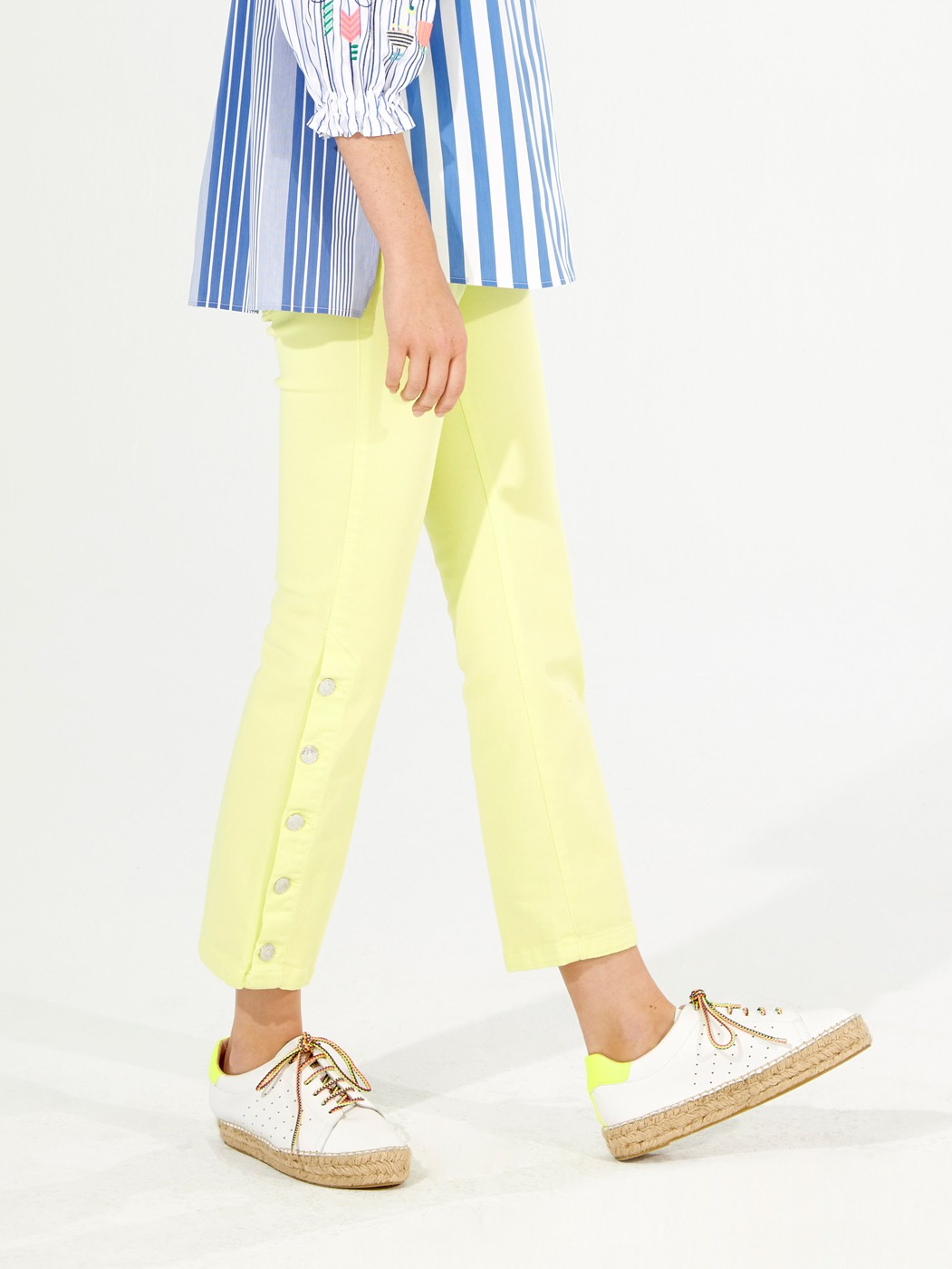 FABIOLA LIME TROUSERS