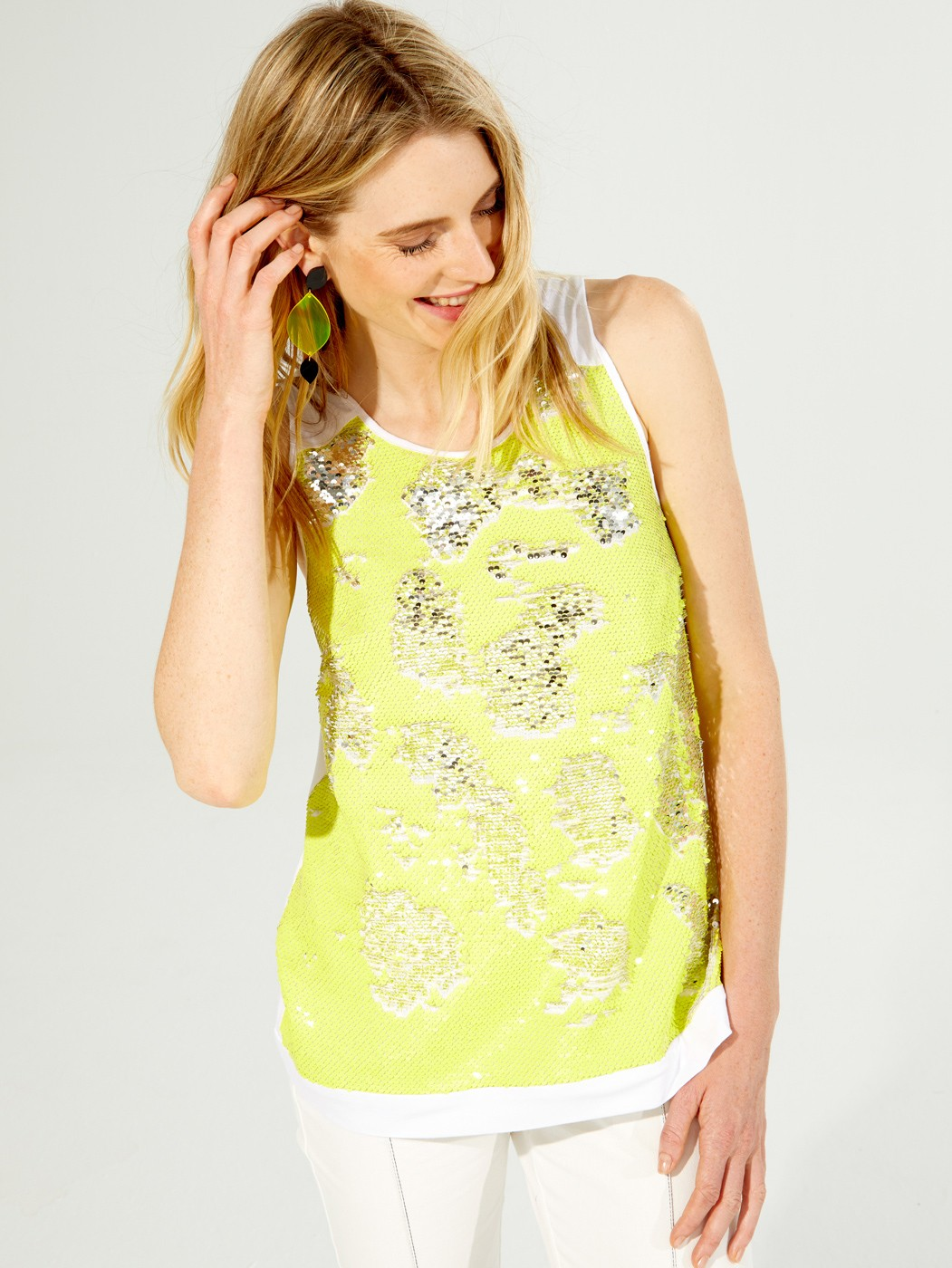 CONSTANCE SHIRT YELLOW SEQUINS