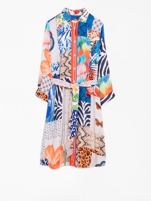 VESTIDO DOVER SUMMER COLLAGE PRINT
