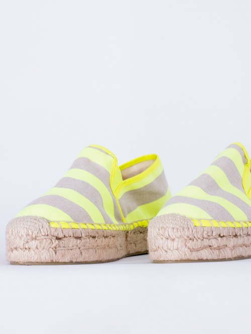 ZAPATO SUSAN LIME FLUOR STRIPES
