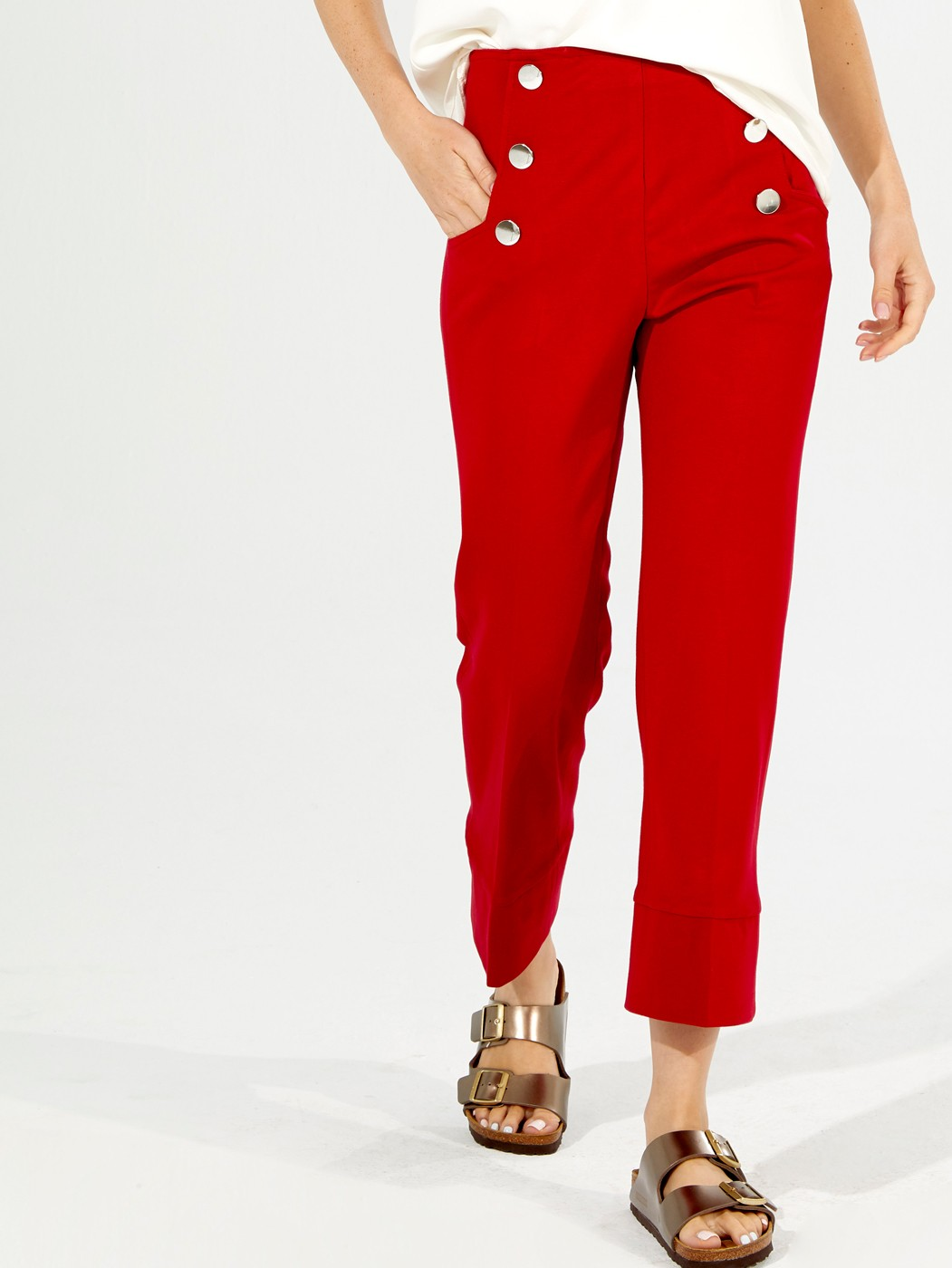 PATRIZIA TROUSERS KN RED