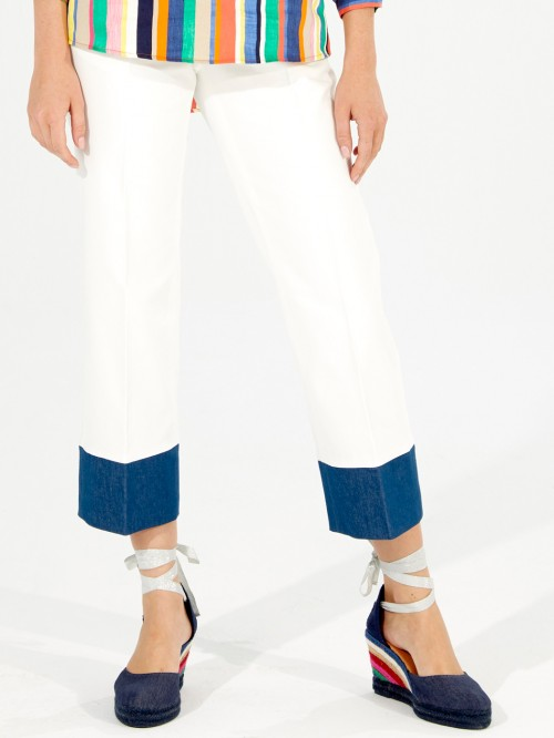 LIDIA TROUSERS BICOLOR WH AMSTERDAM