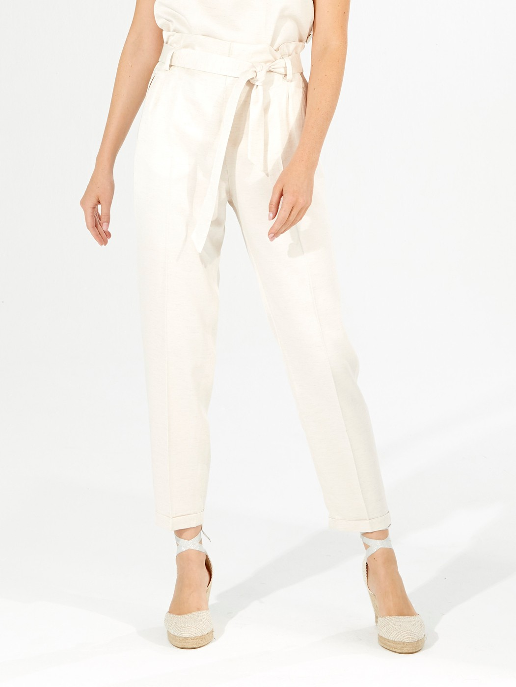 MILY TROUSERS ECRU BERCELLI