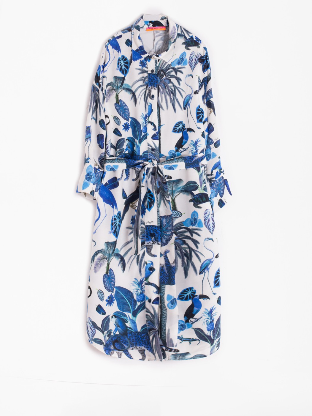 EMMA DRESS DEEP BLUE JUNGLE
