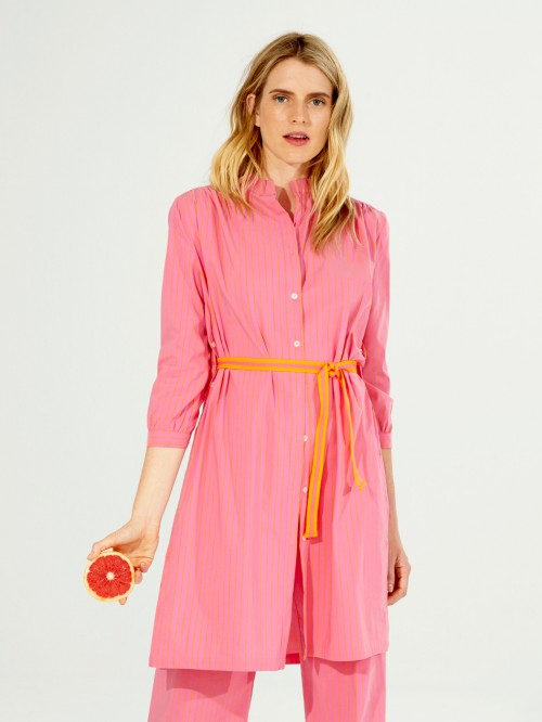 BIANCA DRESS SURF PINK ORANGE STR