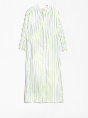 VESTIDO ANETT LIME BLUE STRIPE